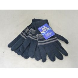 144 Units of GLOVES MEN 2-PK 4ASST - Knitted Stretch Gloves