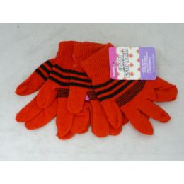 144 Units of Gloves Women 2-Pk 6asst Color - Knitted Stretch Gloves