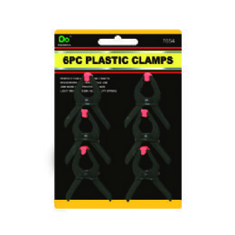 144 Units of 6PC Plastic Spring Clamps 2 Inches - Clamps
