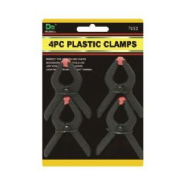 144 Units of 4pc Plastic Spring Clamps 3 Inches - Clamps