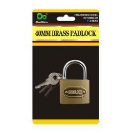 120 Units of 40MM Brass Padlock - Padlocks and Combination Locks