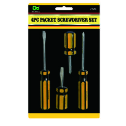 48 Units of 4pc Packet Screwdriver Set - Screwdrivers and Sets