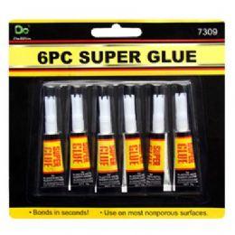 48 Units of 6 Piece Super Glue - Glue Office and School