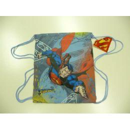 60 Units of LIC BACKBAG W/STRING SUPERMAN - Draw String & Sling Packs