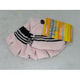 144 Units of GLOVE W/DETACHABLE TOP 6ASST - Knitted Stretch Gloves