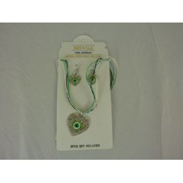 144 Units of JEWELRY SET 1PC NECKLACE, 2EAR RING - Necklace Sets