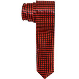 96 Units of Red And Black Colored Slim Tie - Neckties
