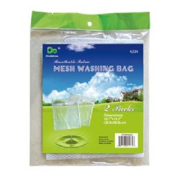 """48 Units of 2 Pack Mesh Washing Bags 15.75""""x19.75"""" - Laundry  Supplies"""