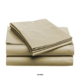 12 Units of 3 Piece Solid Sheet Set Taupe - Sheet Sets