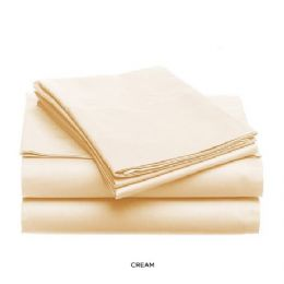12 Units of 3 Piece Solid Sheet Set Ivory King Size - Sheet Sets