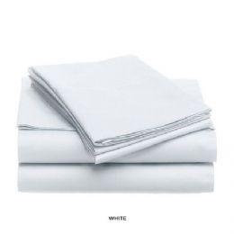 12 Units of 3 Piece Solid Sheet Set White King Size - Sheet Sets
