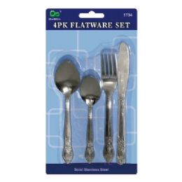 72 Units of 4 Pack Flatware Set - Kitchen Cutlery