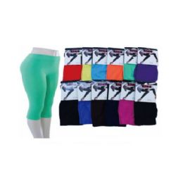 60 Units of Ladies Capri Tight Asst Colors - Womens Leggings