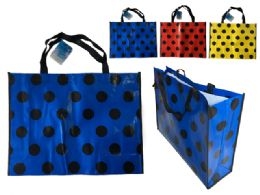 144 Units of Polka Dot Design Shopping Bag - Bags Of All Types