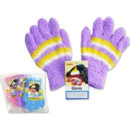 288 Units of Kids' Fuzzy Gloves, 18g - Fuzzy Gloves