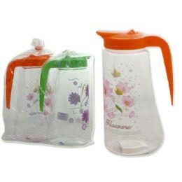 48 Units of PLASTIC PITCHER 3ASST CLR - Plastic Drinkware