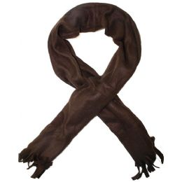100 Units of ACRYLIC SCARVES IN BROWN - Womens Fashion Scarves