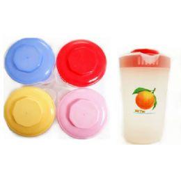 48 Units of 4 asst plastic jars - Plastic Drinkware