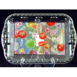 96 Units of rectangle tray fruit design - Plastic Serving Ware