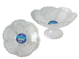 72 Units of crystal bowl w/footing - Plastic Serving Ware
