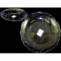 48 Units of round crystal tray - Plastic Serving Ware