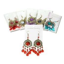 288 Units of Earring 1pr Asst Clr - Earrings