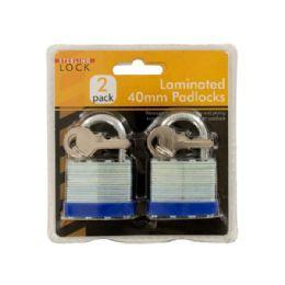 12 Units of Wholesale 2 pack 40mm laminated padlocks - Padlocks and Combination Locks