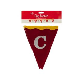 144 Units of Wholesale 6 ft big top celebrate felt flag banner - Party Banners