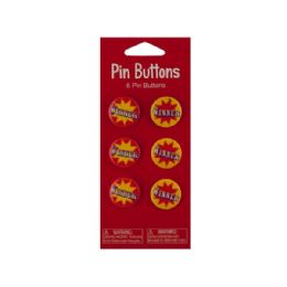 144 Units of Wholesale 6 pack bigtop winner favor buttons