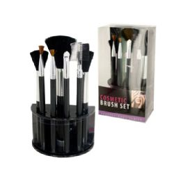 12 Units of Wholesale Cosmetic Brush Set With Stand - Cosmetic Cases