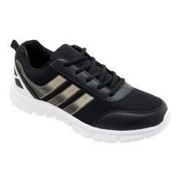 12 Units of Men's Lightweight Casual Sneakers In Black - Men's Sneakers