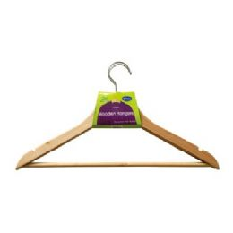 48 Units of 2 Pack Wooden Coat Hangers - Hangers