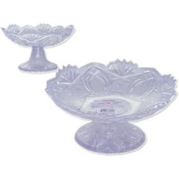 48 Units of CRYSTAL BOWL W/FOOTING - Plastic Serving Ware