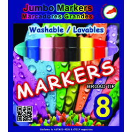 96 Units of Jumbo Water Color Marker 8ct In A Window Box (2 Inners Of 24) - Markers and Highlighters