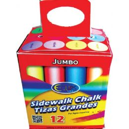 24 Units of Jumbo Sidewalk Chalk Boxed 12 pcs - Chalk,Chalkboards,Crayons