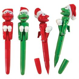48 Units of Fighting Frog Christmas Pen - Christmas Novelties