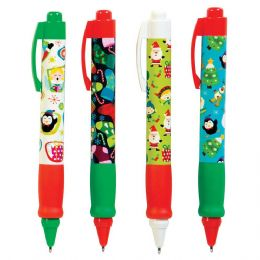 72 Units of Christmas Retractable Pen - Christmas Novelties