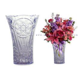 72 Units of Crystal Flower Vase - Plastic Serving Ware