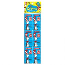 48 Units of 12-Ct Dr Seuss 4 Crayon Party Pack - Chalk,Chalkboards,Crayons