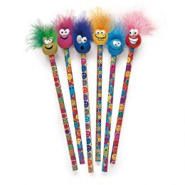72 Units of Miles Smiles Tip Topz Pencil - Pencil Grippers / Toppers