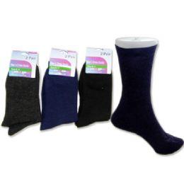 288 Units of Sock Dress 2 Pairs 3asst Clrblack,navy,grey Clr - Mens Dress Sock