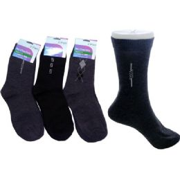 288 Units of Sock Dress 2 Pairs 3asst Clrblack,grey Clr - Mens Dress Sock