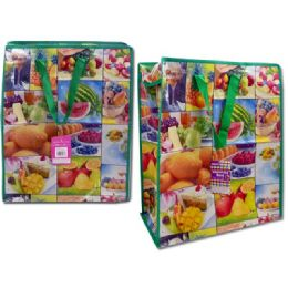 """96 Units of SHOPPING BAG 115.7X17.7X7.1"""" FRUIT DESIGN - Bags Of All Types"""