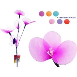 144 Units of SILK FLOWER & BUTTERFLY 60CM L2 - Artificial Flowers