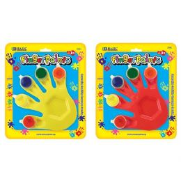 80 Units of 5 Colors 5ml Finger Paint w/ Hand Shaped Mixing Tray - Craft Kits