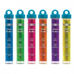 288 Units of BAZIC 22g / 0.77 Oz. Neon Color Glitter Shaker w/ PDQ - Craft Glue & Glitter