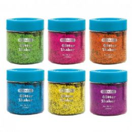 144 Units of Neon Color Glitter Shaker w/ PDQ - Craft Glue & Glitter