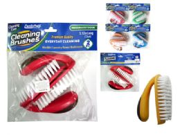 96 Units of 2 Piece Multipurpose Cleaning Brushes - Cleaning Products