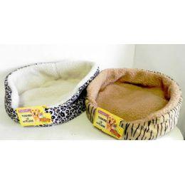 30 Units of Wholesale 15 Round Plush Pet Bed - Pet Accessories