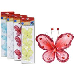 144 Units of Silk Butterfly Magnets - Refrigerator Magnets